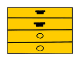 Music Rhythm Fraction Bars for Color Copier or Printer