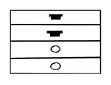 Music Rhythm Fraction Bars in Black & White