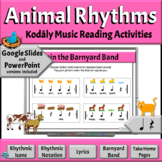 Music Rhythm Activity, Read & Play: Quarter Note/Rest, Eighth Notes-Animal 8ths
