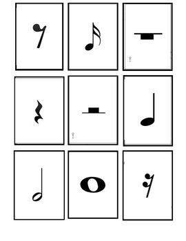 Music Rhythm Playing Cards (small)