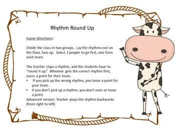 Music Rhythm Round Up Level 3 {half note}