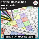 Music Rhythm Worksheets 1