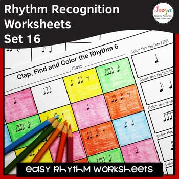 Music Rhythm Worksheets 16