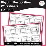 Music Rhythm Worksheets FREEBIE