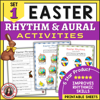 Music Rhythm and Aural Activities  - Easter Theme SET 1