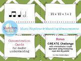 Music Rhythms & Matching Measurements 4/4: Music & Math w/ Create Challenge