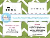 Music Rhythms & Matching Measurements 4/4: Music & Math w/ Create Challenge