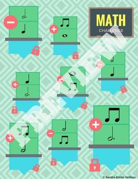 Music Rhythms - Math Challenge