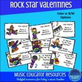 Music Rock Star Valentine Cards