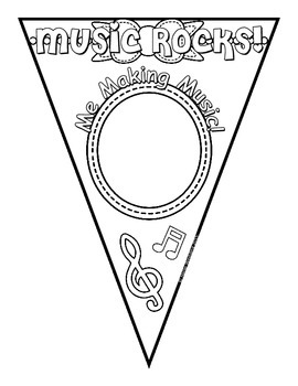 Music Rocks! Color-able Pennants