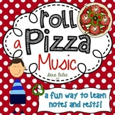 Music Roll a Pizza Game- Learn Notes and Rests!