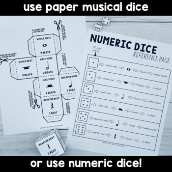 FREE! Music Roll a Turkey Game- Learn Notes and Rests!
