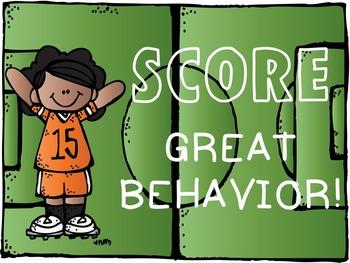 Music Room Behavior Clip Chart & Rules (Sports Theme Decor Set)