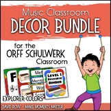 Music Room Decor Kit for the Orff Schulwerk Classroom - Explorer Color Scheme