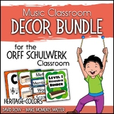 Music Room Decor Kit for the Orff Schulwerk Classroom - He