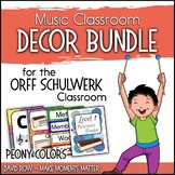 Music Room Decor Kit for the Orff Schulwerk Classroom - Pe