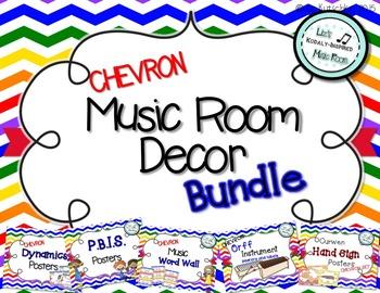 Music Room Decor BUNDLE: Chevron
