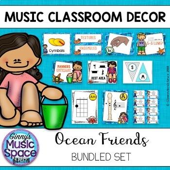 Music Room Decor BUNDLE {Ocean Themed}