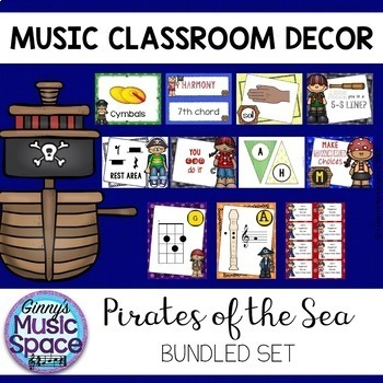 Music Room Decor BUNDLE {Pirate Themed}