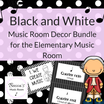 Music Room Decor: Black and White Decor for the Music Classroom