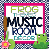 Music Room Decor Kit {Frog Theme}