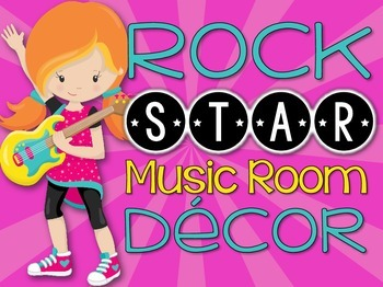 Music Room Decor Kit {Rock Star Theme}
