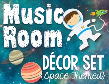Music Room Decor Kit - Space Theme