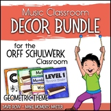 Music Room Decor Kit for the Orff Schulwerk Classroom - Geometric Theme