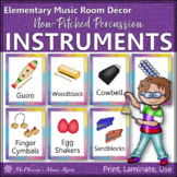 Music Room Décor Non-Pitched Percussion Instrument Posters & Flash Cards