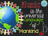 "Music Room Decor Kit Bundle: ""Music is the Universal Language of Mankind"""