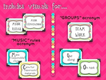 Music Room Essentials - Behavior Toolkit in Cheerful Brights