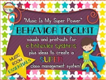 Music Room Essentials - Behavior Toolkit in Music Is My Super Power