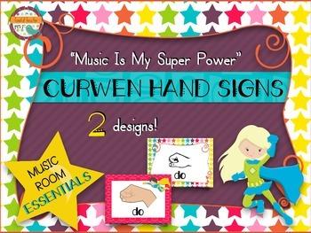 Music Room Essentials - Curwen/Kodaly Hand Signs in Music