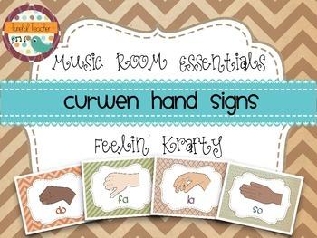 Music Room Essentials - Curwen/Kodaly Hand Signs Posters in Feelin' Krafty