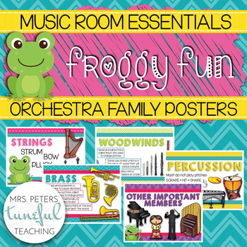 Music Room Essentials - Froggy Fun Orchestra Posters