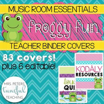 Music Room Essentials - Froggy Fun Teacher Binder Covers