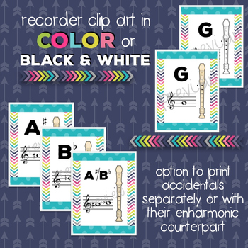 Music Room Essentials - Ocean Recorder Fingering Posters (plus FREE bonus!)