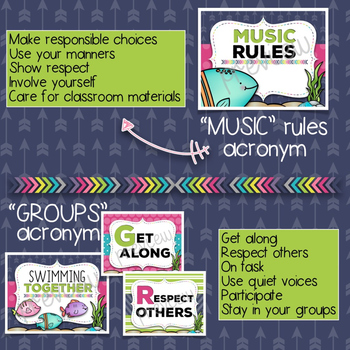 Music Room Essentials - Ocean Themed Behavior Toolkit
