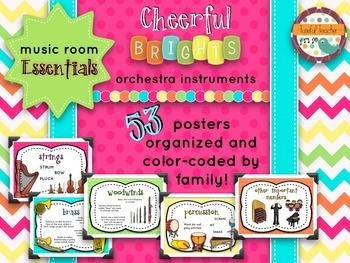 Music Room Essentials - Orchestra Families in Cheerful Brights