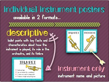 Music Room Essentials - Orchestra Families in Music Is My Super Power