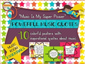 Music Room Essentials - Powerful Quotes Posters in Music Is My Super Power