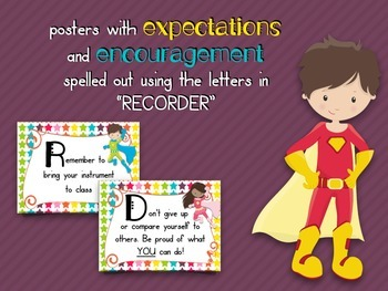 Music Room Essentials - Recorder Fingerings in Music Is My Superpower