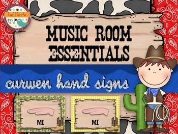 Music Room Essentials - Wild West Curwen/Kodaly Hand Signs