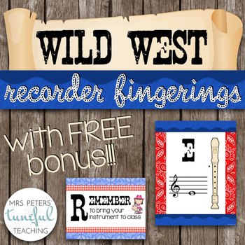 Music Room Essentials - Wild West Recorder Fingering Posters (plus FREE bonus!)