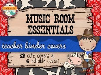 Music Room Essentials - Wild West Teacher Binder Covers