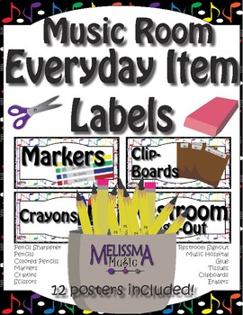 Music Room Everyday Labels