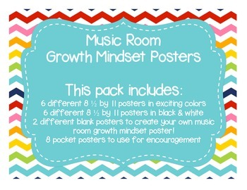 Music Room Growth Mindset Poster Set
