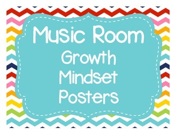 Music Room Growth Mindset Poster Set