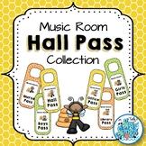 Music Room Hall Pass Door Hangers - Busy Bees Kids