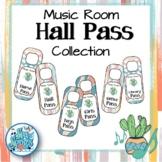 Music Room Hall Pass Door Hangers - Ginger & Waves